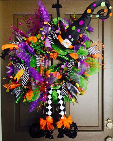 25 best ideas about witch wreath on witch wreath diy deco mesh witch