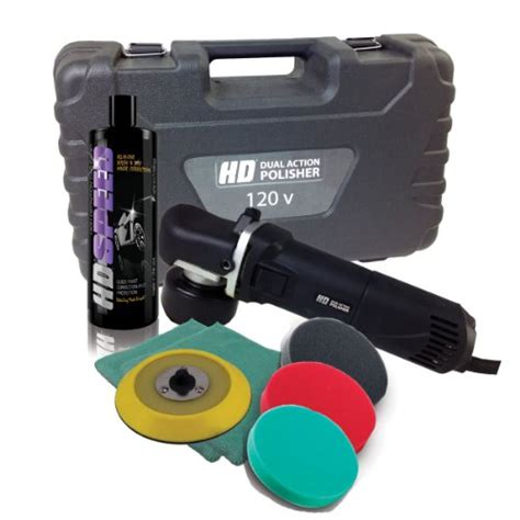 3d Hd Car Care Hd Dual Polisher hd dual polisher swirl remover complete kit backing plate pads microfiber