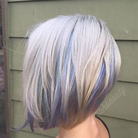Platinum Bob With Pastel Highlights | 20 sensational pastel hair colors in every shade of rainbow