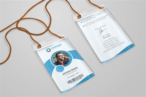 Identification Card Templates Psd corporate id card template psd corporate id card template