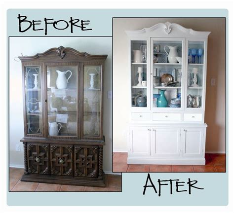 Dining Room Hutch Makeover by How To Update A Hutch Part 2 Cabinets China Cabinets