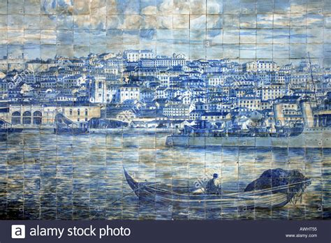 Find In Portugal A Large Azulejo Painted Tiles Found In Lisbon