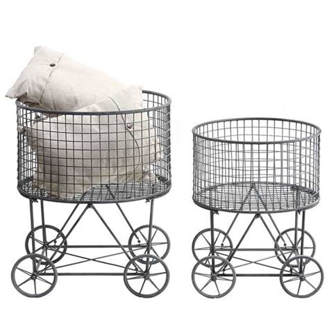 Metal Laundry Basket With Wheels De0314 Home Decor Laundry With Wheels