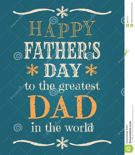 greeting card template s day fathers day card stock image image 30372771