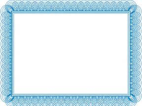 blue certificate template 5 blank certificates of appreciation blank certificates