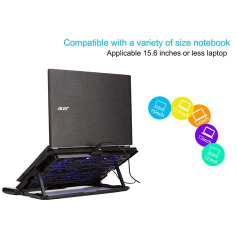 Kipas Laptop 14 Inch cooling pad laptop 6 fan hindarkan laptop anda dari overheating dengan 6 fan yang tersedia