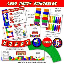 paper perfection lego invitation and printables