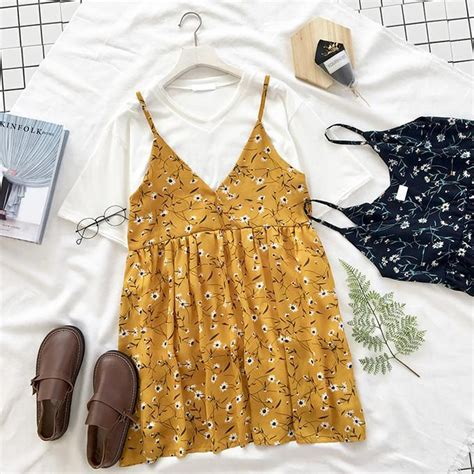 Summer Clothes From Clicknfunny Shop 2 by Yellow Light Floral Sleeveless Summer Dress Itgirl Shop