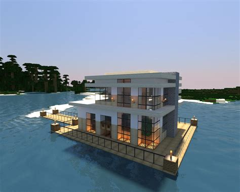 modern lake house minecraft modern lake house modern minecraft pinterest