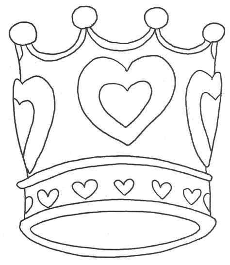 printable crown to color crown coloring pages to download and print for free