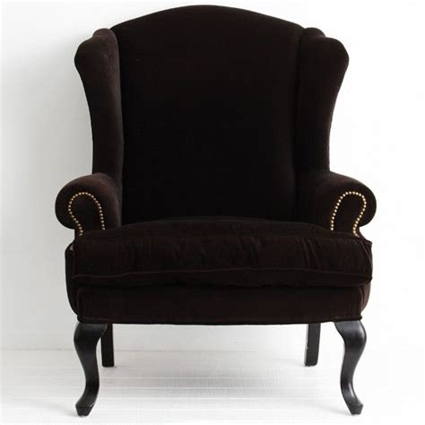 Black And Armchair Black Velvet Wingback Armchair Home Ideas