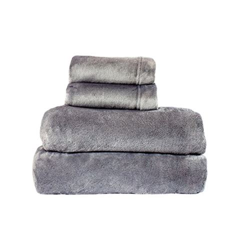 velvet soft cozy sheet sets full size cozy fleece comfort collection velvet plush sheet set soft warm size gray ebay