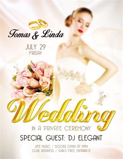 flyer design wedding flyer psd template wedding design v02 facebook cover