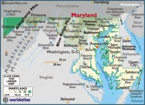 usa map baltimore md maryland map geography of maryland map of maryland