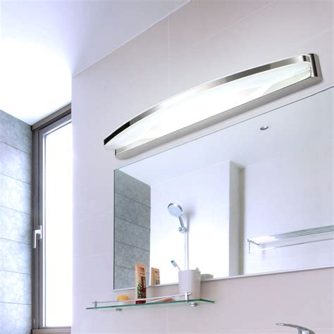 bathroom vanity mirror with lights pre modern minimalist led mirror light water fog