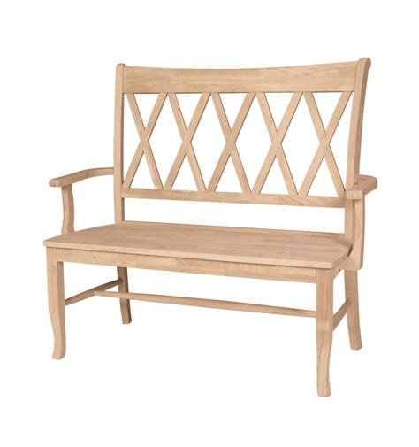 42 Inch Storage Bench 42 Inch Xx Back Arm Bench Wood You Furniture