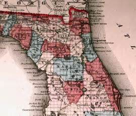 map of northern florida 1863
