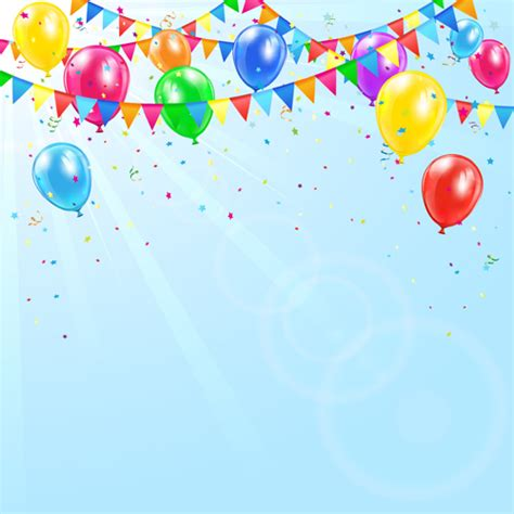 background ultah huayi art fabric birthday party colourful balloons