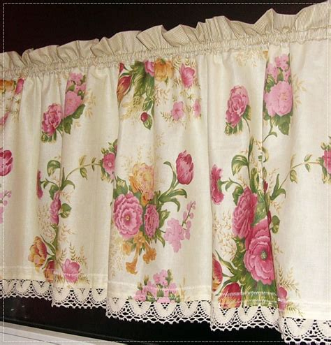 shabby curtains curtain rose curtainkitchenromantic housecurtain romantic