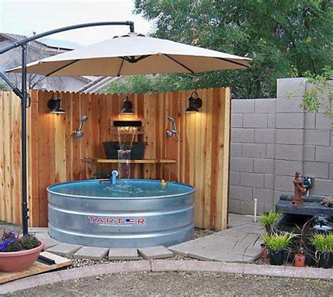 Galvanized Stock Tank Turned Diy Pool What Do You Backyard Pool Supply
