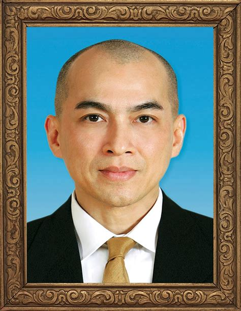 cambodias king norodom sihamoni photo frame