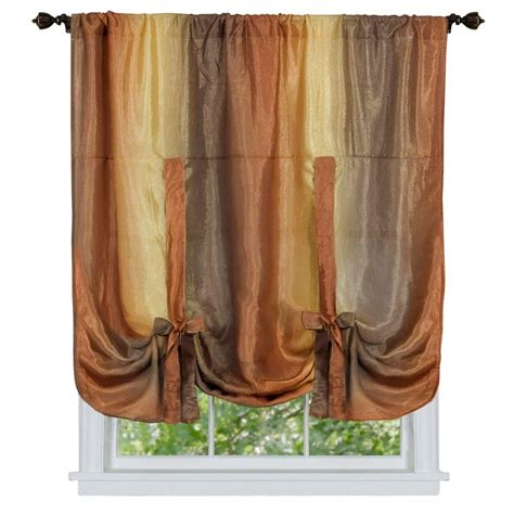 tied up curtains achim autumn ombre tie up shade curtain 50 in w x 63 in