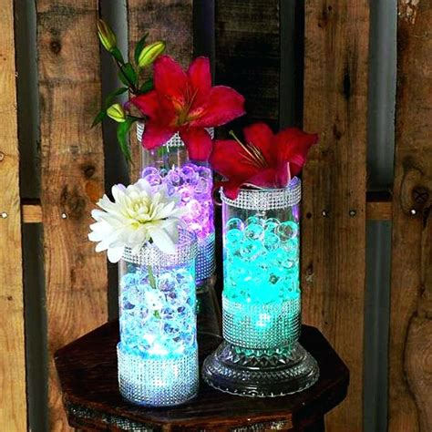 led vase lighting wonderful ideas centerpiece lights