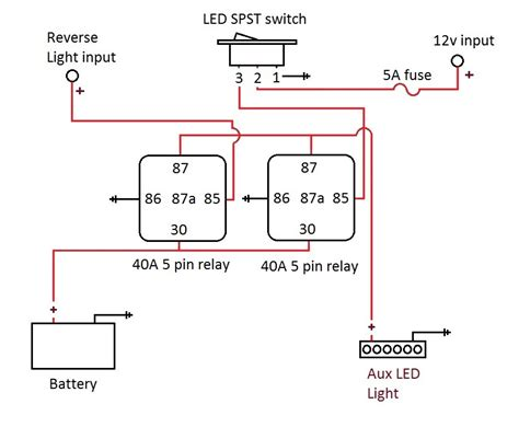 auxiliary light wiring diagram 5 pin auxiliary