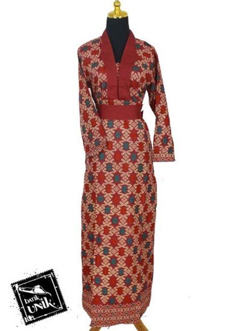 Kalung Etnik Murah 59 baju batik gamis katun motif songket etnik tumpal gamis
