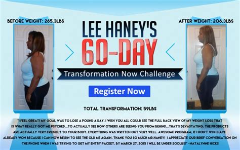 Haney 7 Day Detox by Haney S Transformation Now Challenge Register