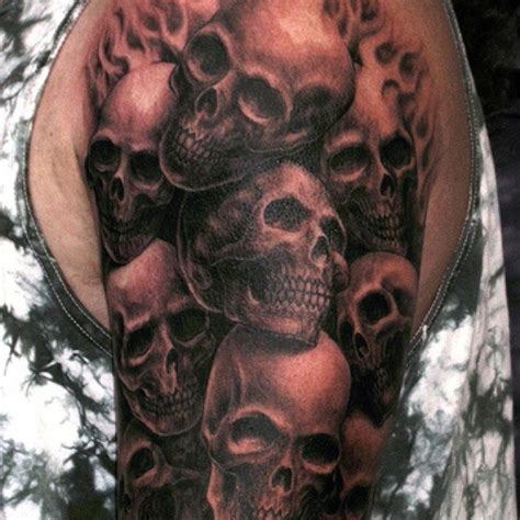 demon skull tattoos skull demons haunting you tattoos