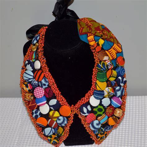 Ankara Necklace   princess bib necklace ankara necklace statement jewelry by