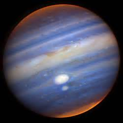 what color is jupiter apod 2006 july 25 jupiters two largest storms nearly