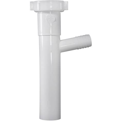 Sink Tailpiece With Dishwasher Connection by 1 1 2 In X 8 In Plastic Dishwasher Branch Tailpiece