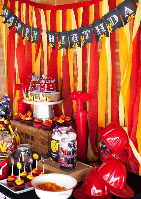 fire up theme junkie kara s party ideas fireman birthday party kara s party ideas