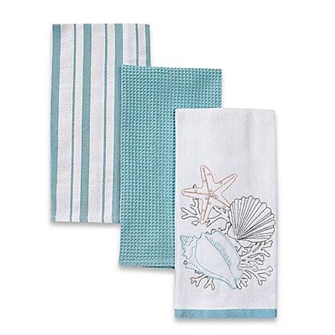 tortola kitchen towels pack of 3 bed bath beyond