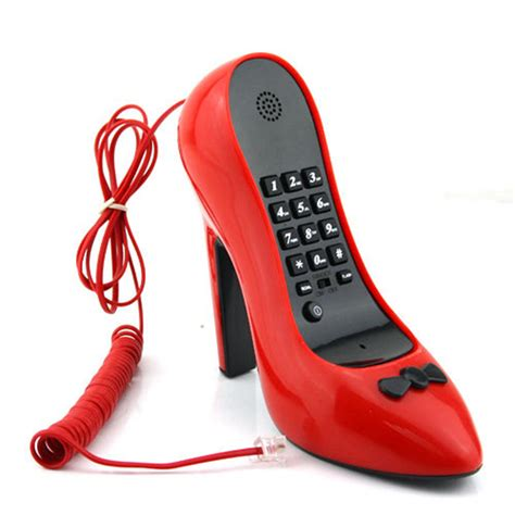 phones shoes new cordless phone high heel shoe shape telephone for