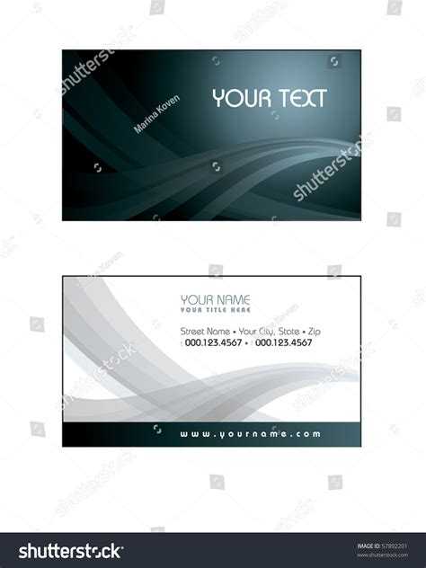 formal business card template business card template eps10 format stock vector