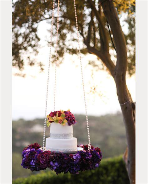 hanging floating  upside  wedding cakes  love mon cheri bridals