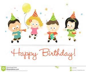happy birthday kids 2 stock vector image of greeting
