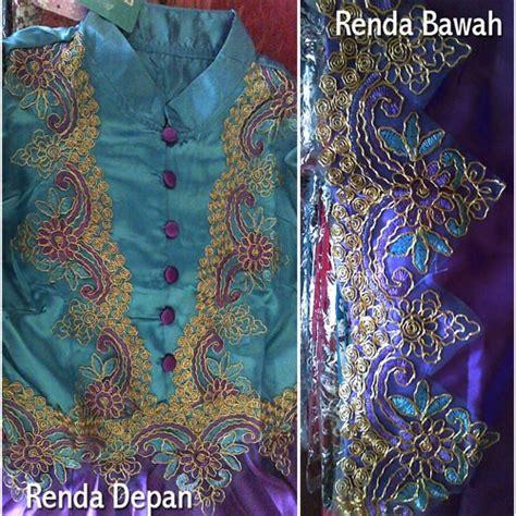 Ral Pict Kebaya Satin Jadi baju gamis satin princess biru ungu busana muslimah pesta