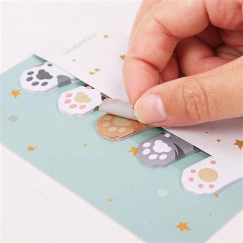 Stiker Kulkas 1pintu Terlaris 1 stiker sticky notes cat paw mix color jakartanotebook