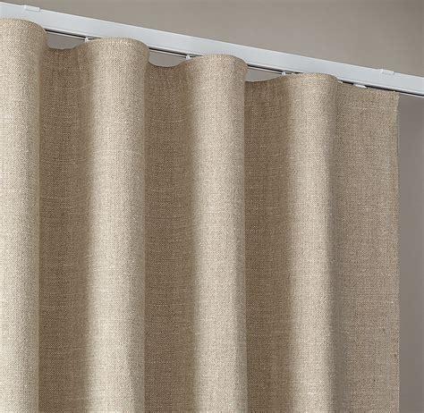 ripple fold drapery custom belgian textured linen ripple fold drapery