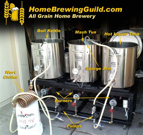 the all grain home brewing process
