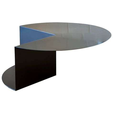 Minimalist Coffee Table Cantilever Minimalist Coffee Table In Coated Steel Customizable Color For Sale At 1stdibs