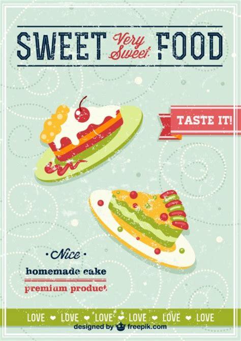 Cake poster vintage Vector   Free Download