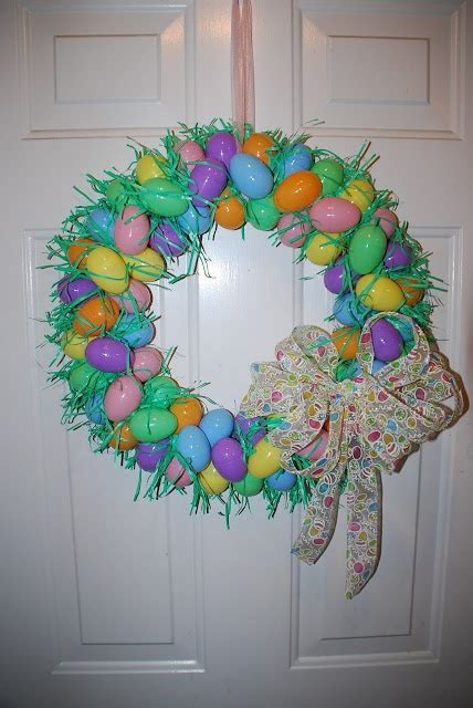 how to make an easter wreath with plastic eggs plastic egg wreath easter easter