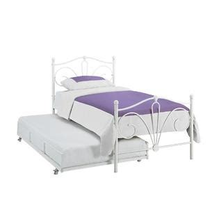 Essential Home Eden White Trundle Bed Maximize Your Space With Kmart