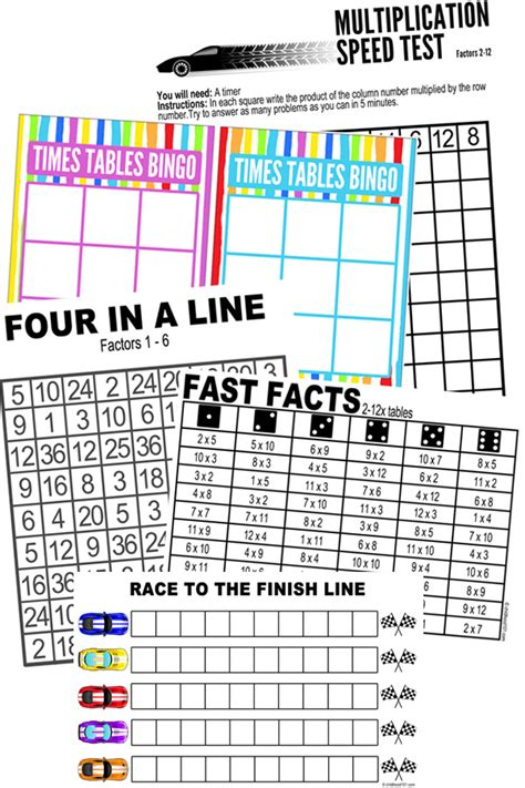 printable games to learn multiplication facts printable maths games for multiplication learning