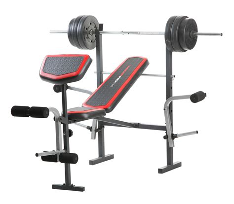 weight bench combo set weider pro 256 bench combo 80 lb vinyl set fitness